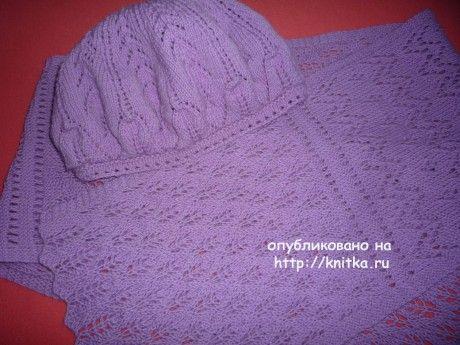 берет и шарфик спицами для женщин