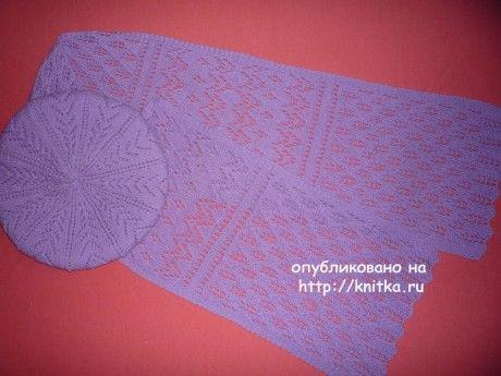 шарфик ажурный схема вязания
