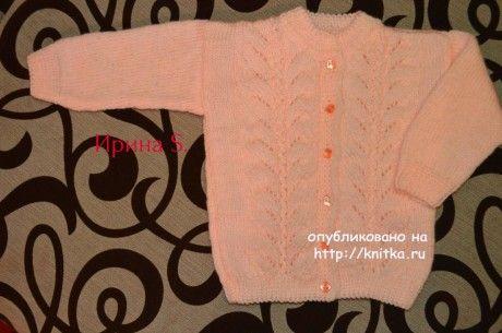 Костюм для девочки спицами. Работа Ирины Стильник вязание и схемы вязания