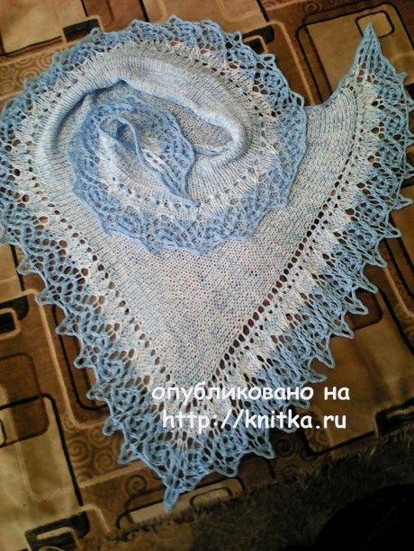 Шаль фишю. Работа Натальи Фадеевой вязание и схемы вязания