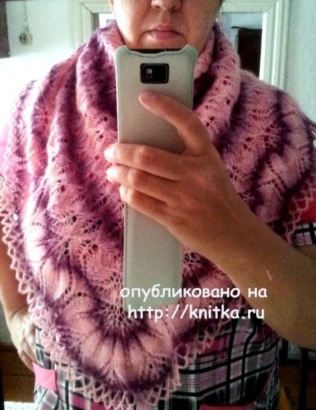 Шаль Харуни. Работа Валентины вязание и схемы вязания