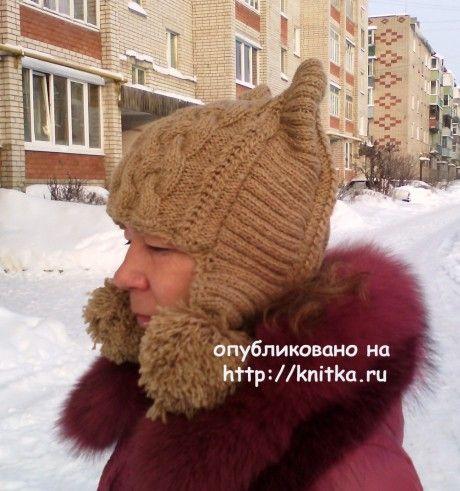 Шапка - кошка. Работа Натальи вязание и схемы вязания
