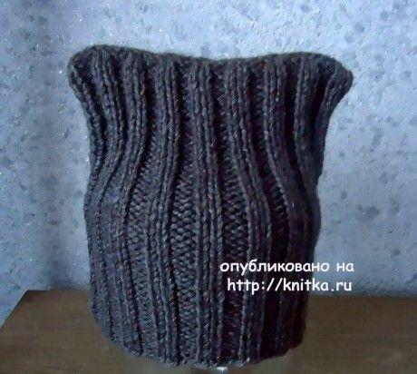 Шапочка спицами. Работы Валерия вязание и схемы вязания