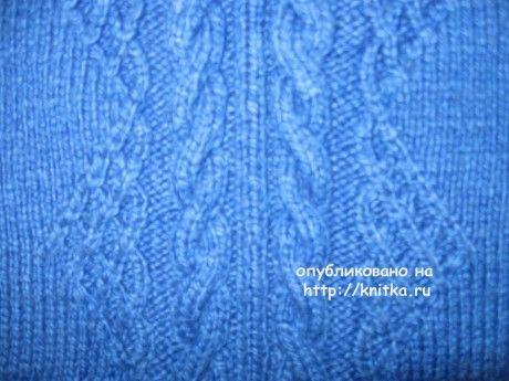 Свитер для мальчика. Работа Татьяны вязание и схемы вязания