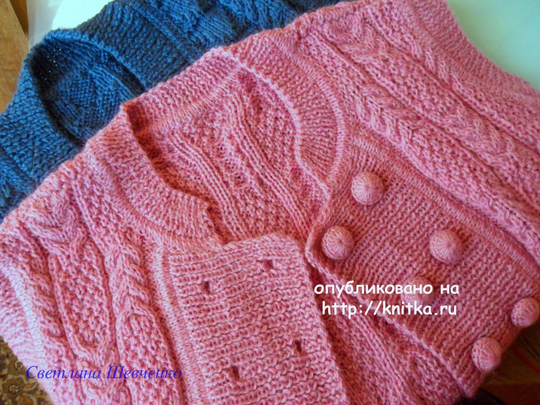 Вязание горловины жилета спицами