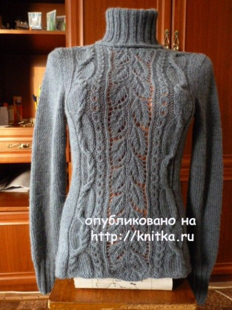 Женский свитер спицами. Работа Марины Ефименко вязание и схемы вязания
