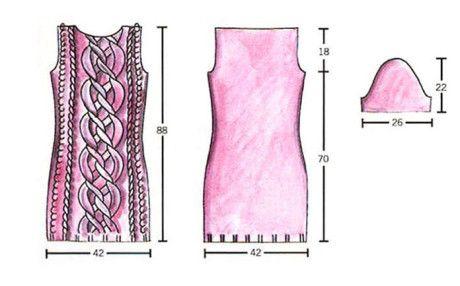 Выкройка платья на 42-44 размер: