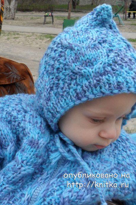 Детский спальный мешок спицами