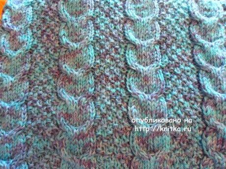 Детский спальный мешок спицами. Работа Светланы Шевченко вязание и схемы вязания