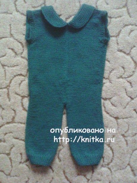 Комбинезон спицами. Работа Анастасии вязание и схемы вязания