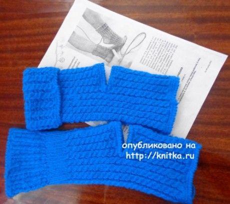 Носки для танцев на 5 спицах
