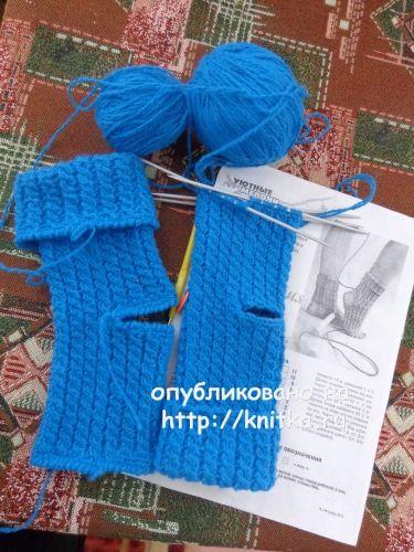 Носки спицами. Работа Надежды Лавровой вязание и схемы вязания