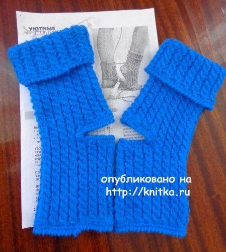 Носки спицами. Работа Надежды Лавровой. Вязание спицами.