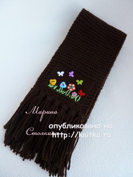 Шапка и шарфик Шоколад. Работы Марины Стоякиной вязание и схемы вязания