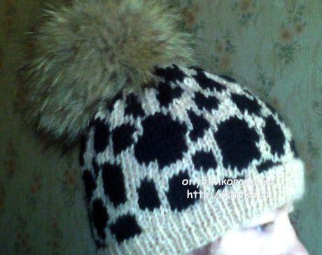 Вязаная спицами шапочка. Работа Натальи вязание и схемы вязания