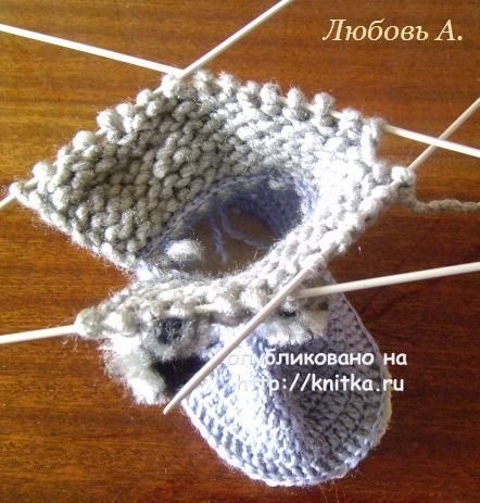 Вязаные детские сапожки. МК от Любови вязание и схемы вязания