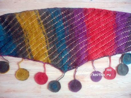 Вязаный шарф - косынка. Работа Лилии вязание и схемы вязания