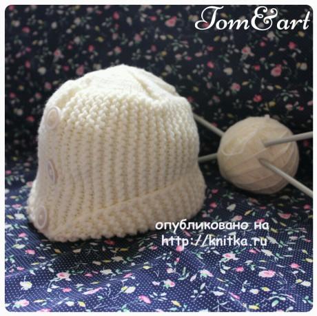 Женская шапочка спицами. Работа Тамары вязание и схемы вязания