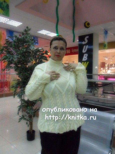 Женский пуловер. Работа Светланы Шевченко вязание и схемы вязания