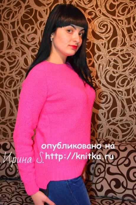Женский свитер спицами. Работа Ирины Стильник вязание и схемы вязания