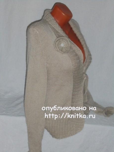 Женский жакет спицами. Работа Веры вязание и схемы вязания