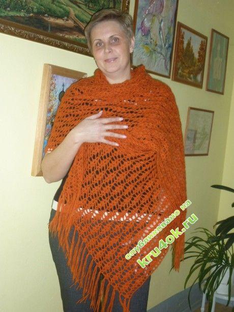 вязание палантина