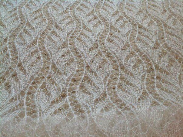 33 схемы вязания палантина спицами, видео уроки, Вязание ...