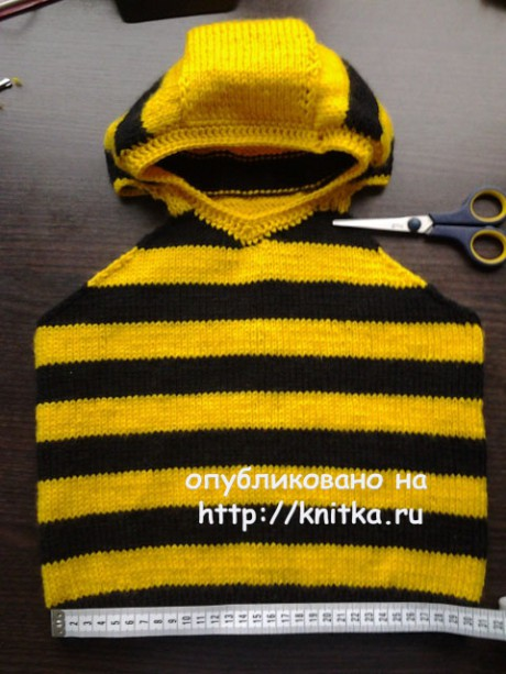 Джемпер Пчелка. Работа Галины вязание и схемы вязания
