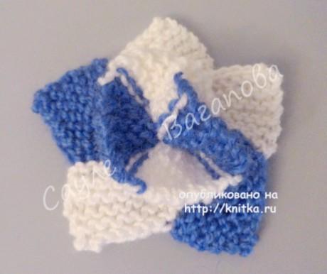 Цветок спицами. Работа Сауле Вагаповой вязание и схемы вязания