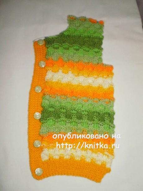 Кофточка Сладкая карамелька. Работа Ирины Стильник вязание и схемы вязания