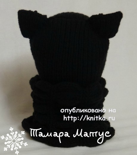 Шапка и шарф спицами. Работы Тамары Матус вязание и схемы вязания