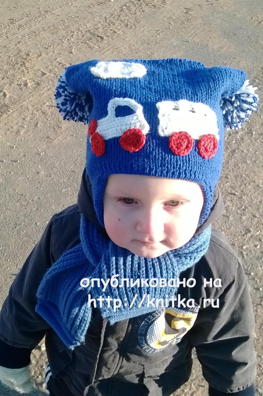 схема вязания шарфа для 2-х летнего мальчика спицами