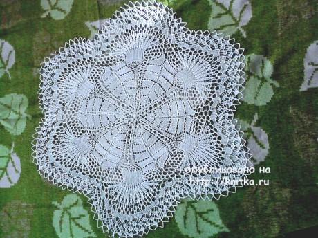 Вязаная салефетка. Работа Васюткиной Ирины вязание и схемы вязания
