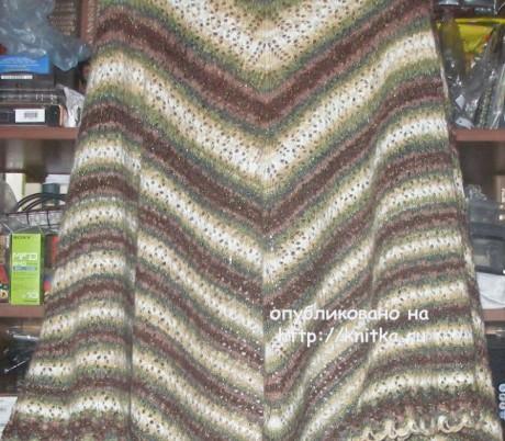 Вязаные шали. Работы Елены вязание и схемы вязания