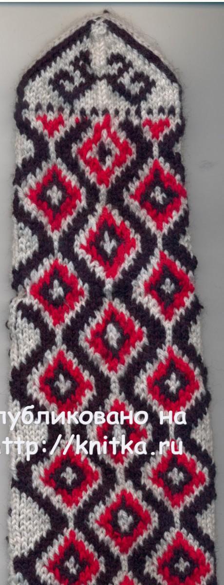 Вязаные спицами носки. Работы Ибрахимкажы вязание и схемы вязания