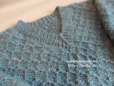 Пуловер для мальчика. Работа Светланы Шевченко вязание и схемы вязания