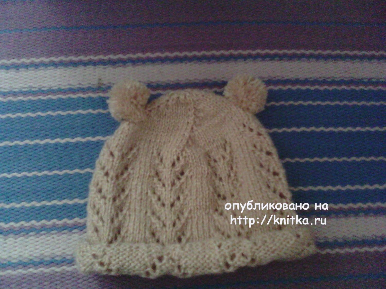 Схема вязания шапочки гладью