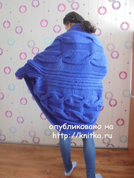Вязаное спицами пальто. Работа Татьяны Ивановны вязание и схемы вязания