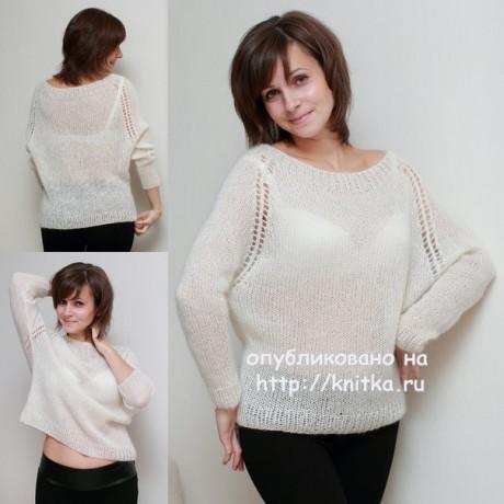 Вязаный пуловер. Работа Вилены вязание и схемы вязания