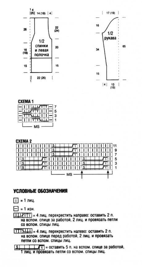 Схемы вязания жакета: