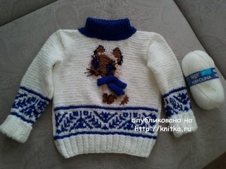 Детские джемпера спицами. Работы Ирины вязание и схемы вязания