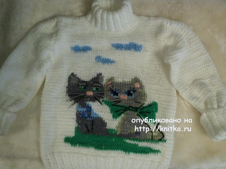 схема вязания пледа с кошками на книтка.ру