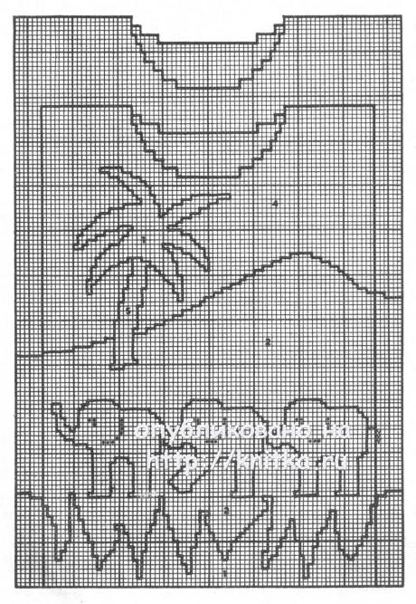 Детский пуловер Парад слонов. Работа Светланы Шевченко вязание и схемы вязания