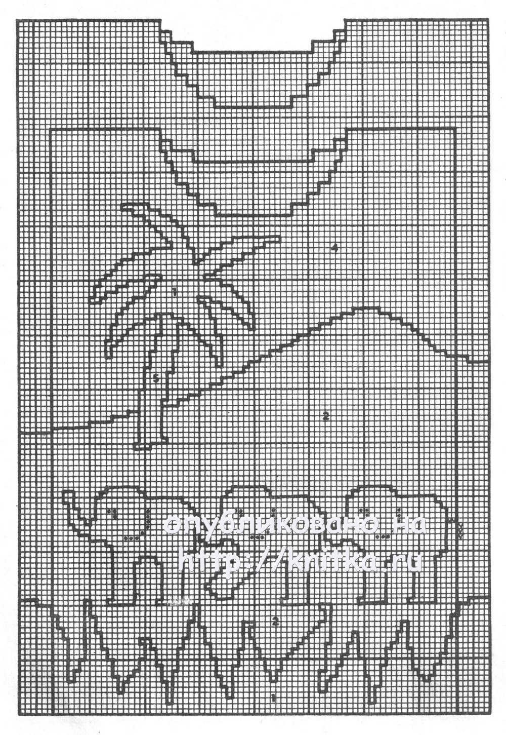 Схемы орнаментов для вязания детские