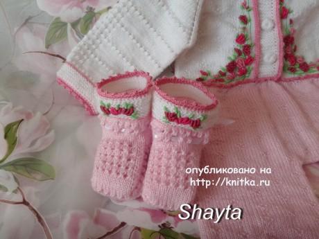 Комплект Агния. Работа Оксаны Усмановой вязание и схемы вязания