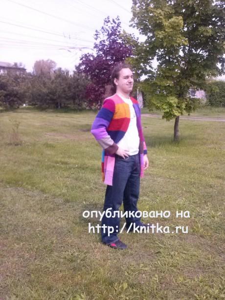 Мужской жакет спицами. Работа Ольги вязание и схемы вязания