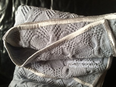 Вязаный спицами плед. Работа Пелагеи вязание и схемы вязания