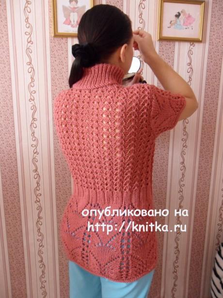 Вязаный спицами жилет. Работа Светланы Шевченко вязание и схемы вязания