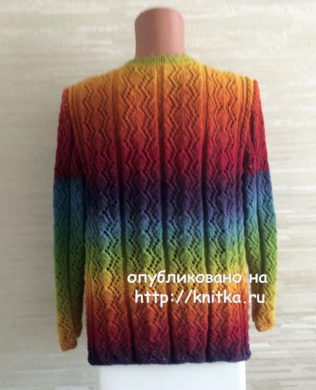 Джемпер женский ажурный. Работа Татьяны вязание и схемы вязания