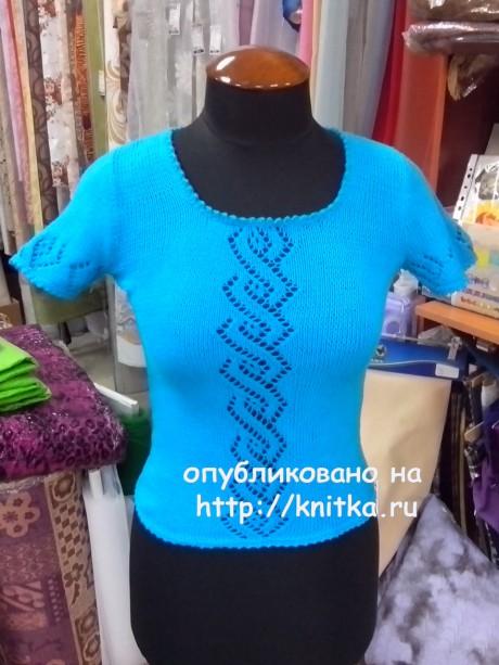 Топ для женщин спицами. Работа Ивановой Светланы. Вязание спицами.